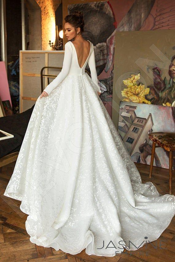 Robe de mariée Bonna silhouette A-ligne silhouette personnalisée. Style élégant de DevotionDresses
