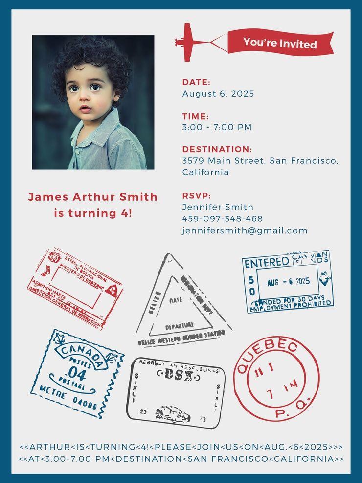 passport invitation template free pdf