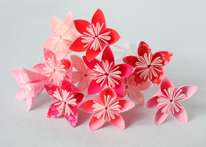 diy fleurs en origami origami diy origami and origami. Black Bedroom Furniture Sets. Home Design Ideas