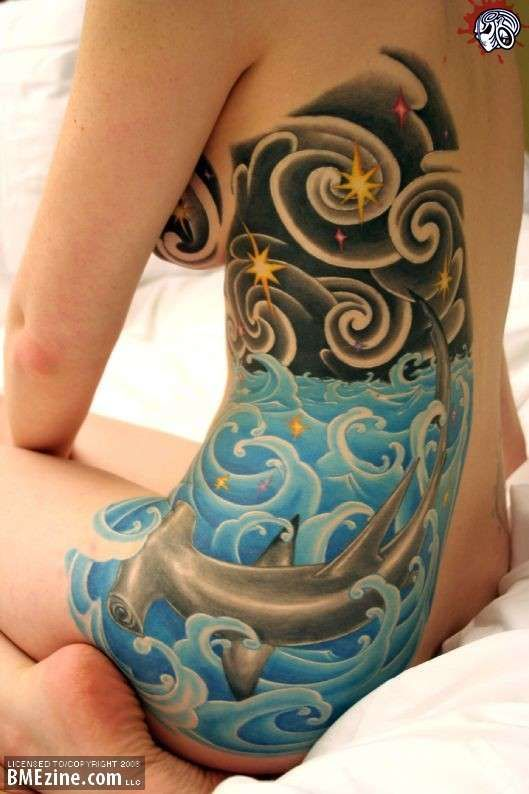 Night sky tattoo awesome ink the kind that doesn 39 t wash for Best soap to clean tattoo