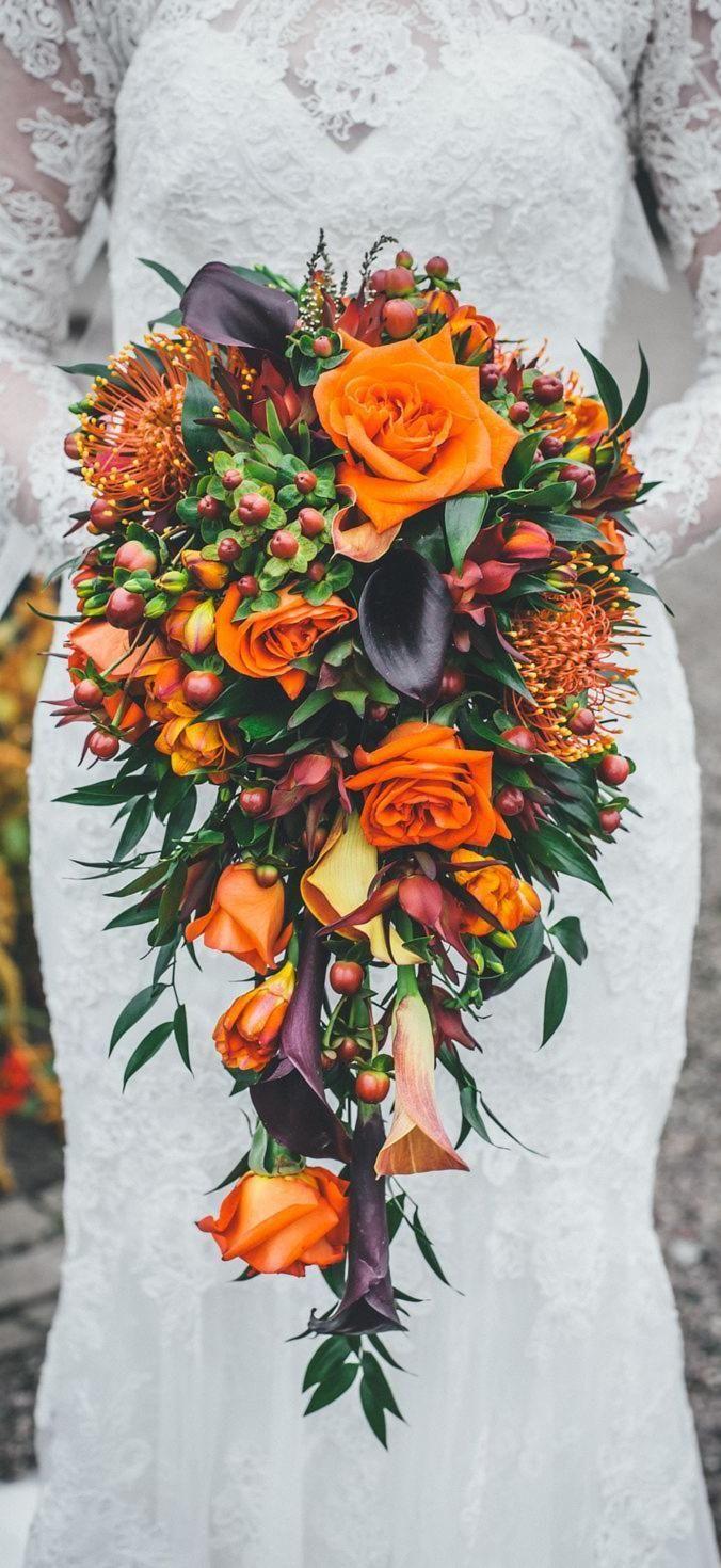 A season this colorful deserves some vibrant floral arrangements
