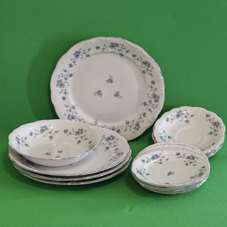 Vintage 1953 1990 13 Piece Partial Dinnerware Set Johann Haviland Blue Garland Free Us Shipping In 2020 Dinnerware Set Dinnerware Victorian Dinnerware
