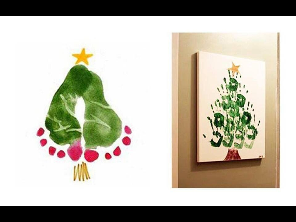 Hand And Feet Painting Christmas Idea For Kids Love It