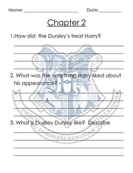 Harry Potter Comprehension Questions Free Harry Potter Lesson Ideas Harry Potter Activities Harry Potter School