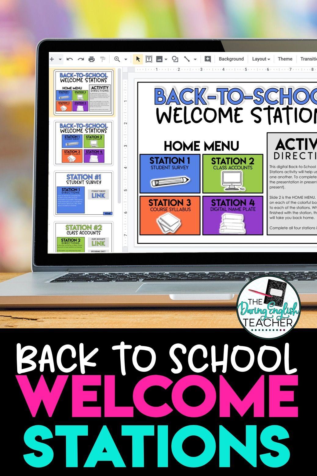Digital BacktoSchool Stations Students Back