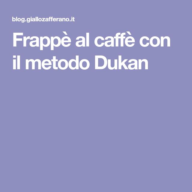 Frappè al caffè con il metodo Dukan