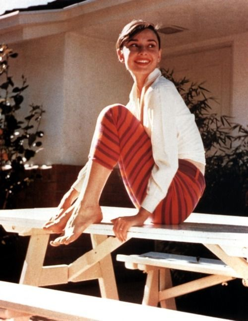 audrey hepburn in pants pictures | Found on theniftyfifties.tumblr.com