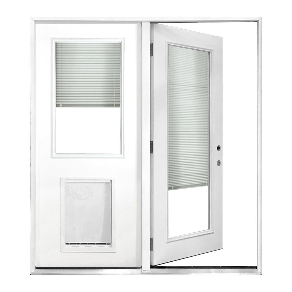 Steves Sons 60 In X 80 In Clear Mini Blind Primed White