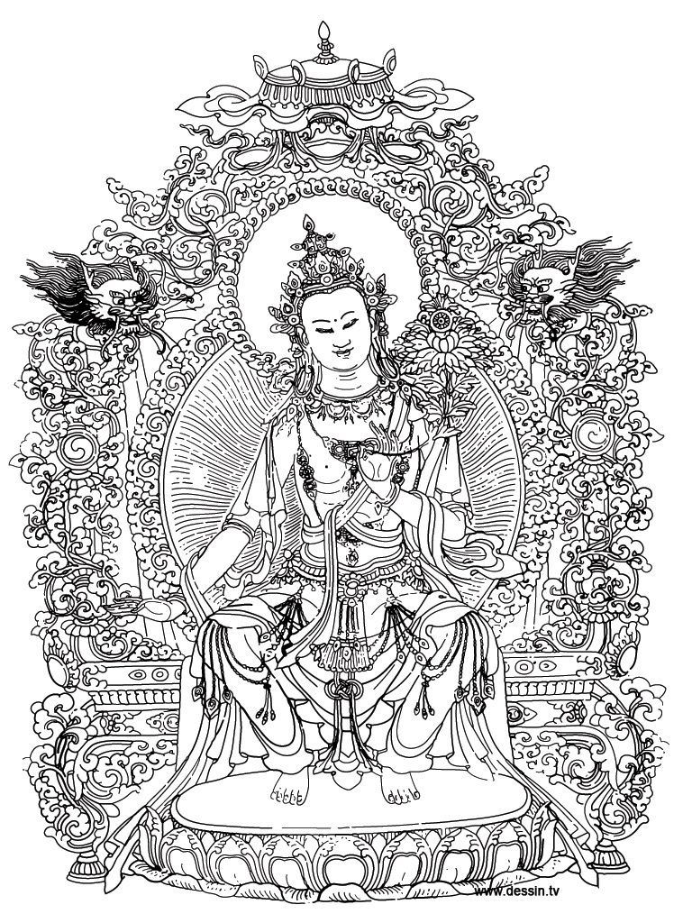Buddhist Mandala Coloring Pages. Fabulous Buddhist Mandala Coloring ...