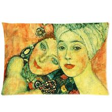 Beautiful Gustav Klimt Painting Custom Zippered Pillow Case 20x30 (one side) PC-1215(China (Mainland))