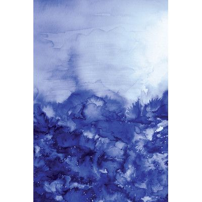 """East Urban Home Into Eternity Painting Print on Wrapped Canvas in Indigo Blue Size: 12"""" H x 8"""" W x 0.75"""" D"""