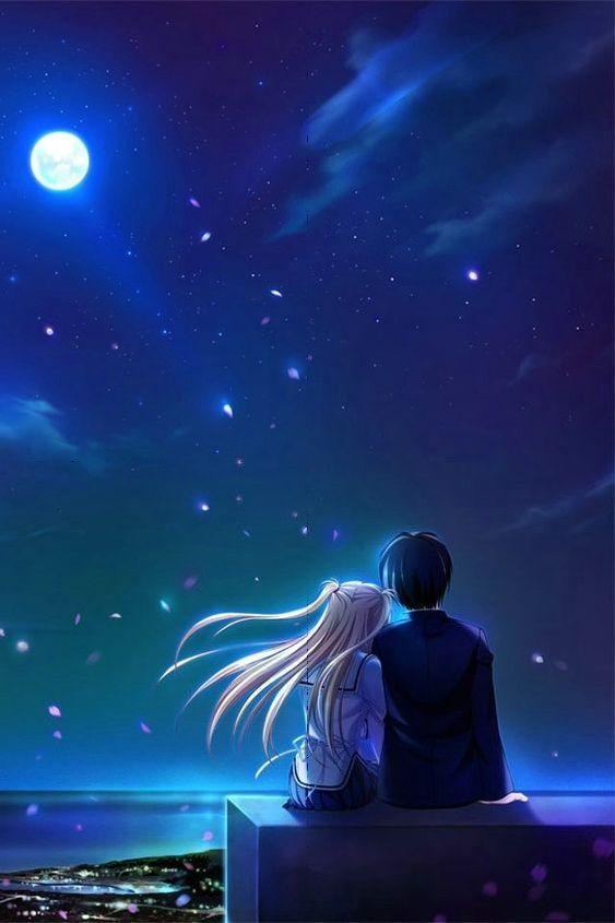 Meet In Moonlight Anime Scenery Anime Art Girl Anime Wallpaper
