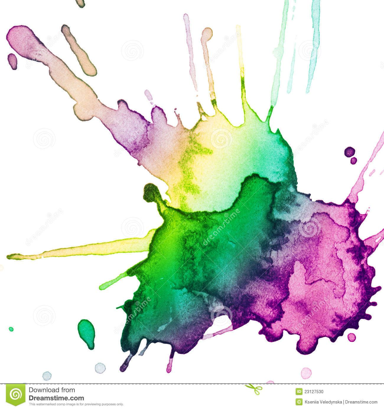 Abstract Hand Drawn Watercolor Blot Stock Photos Image 20056743