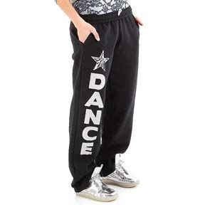 Black dance sweatpants