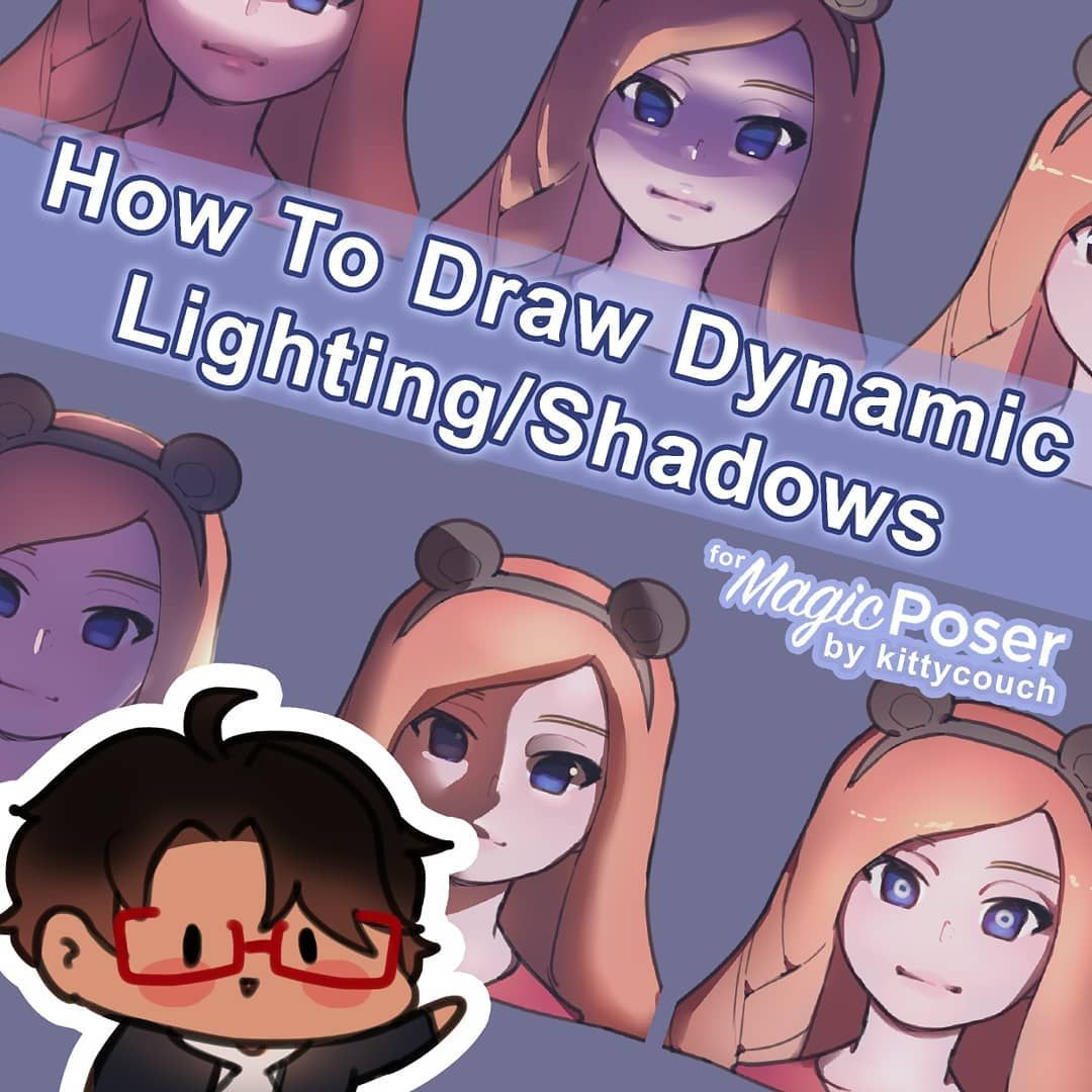 Seeu On Instagram Here S My Tutorial For Magicposer Over Dynamic Lighting I Think I Covered Most Of The Common Dynamic Lighting Art Poses Poser Art