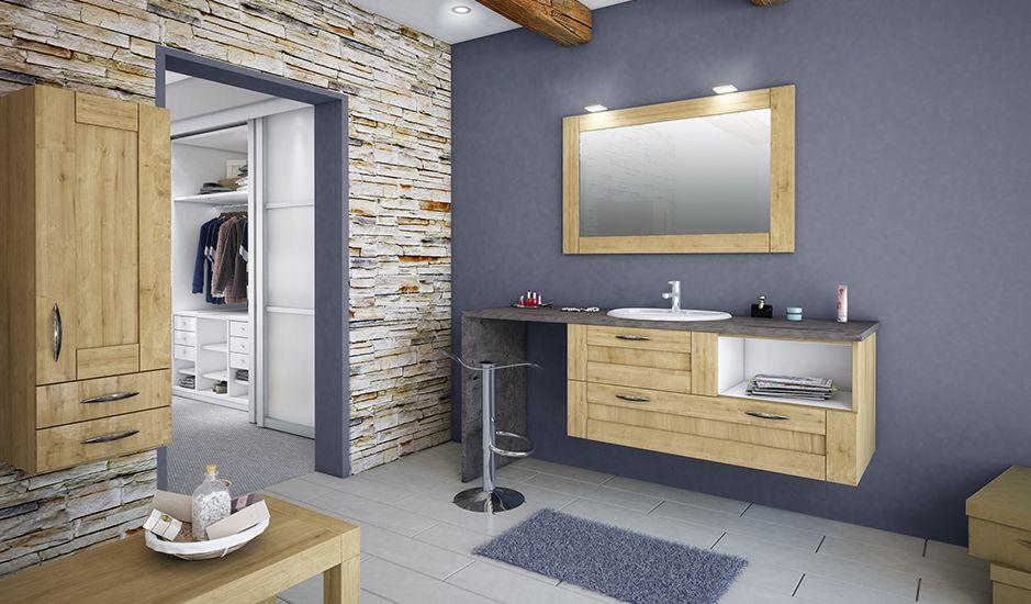 Salle de bain cosy, nature et contemporaine grâce à l\u0027authenticité