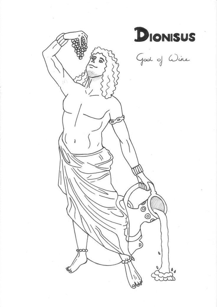 dionysus   greek god/dess' coloring pages   pinterest - Ancient Greek Gods Coloring Pages