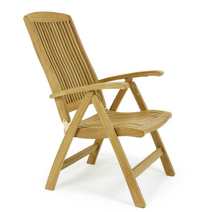 Barbuda Teak Folding Recliner Chair Modern Outdoor Chairs Teak Chaise Lounge Outdoor Chairs