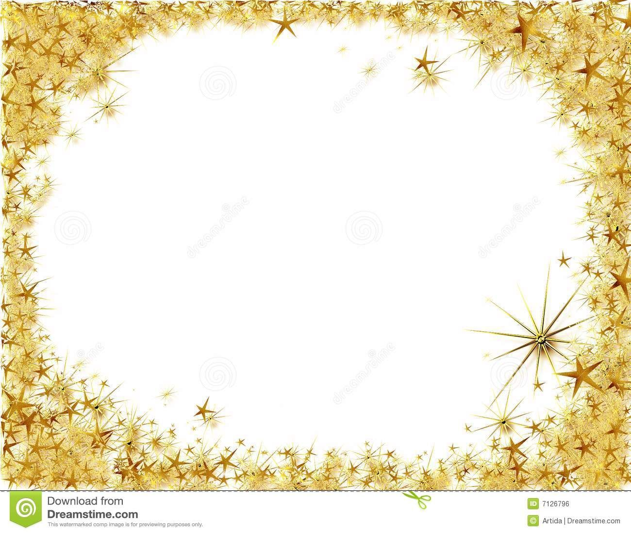 Gold star borders clip art frames pinterest