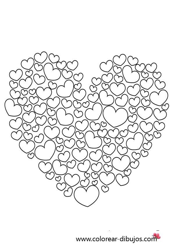 Dibujos de corazones para colorear.Corazones dibujos para imprimir y ...