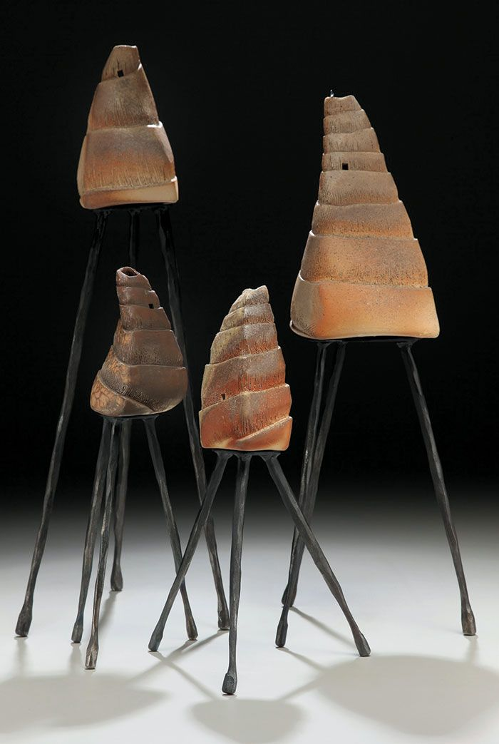 """Virginia McKinney works with each piece until the clay sculpture sits perfectly in the steel supports, as seen in """"Posturing Pomposity."""" Click on the image to read more about Virginia McKinney at www.nichemagazine.com."""