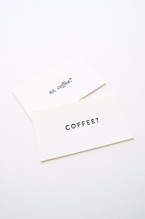 Items similar to Coffee Date Cards - Set of 30 on Etsy