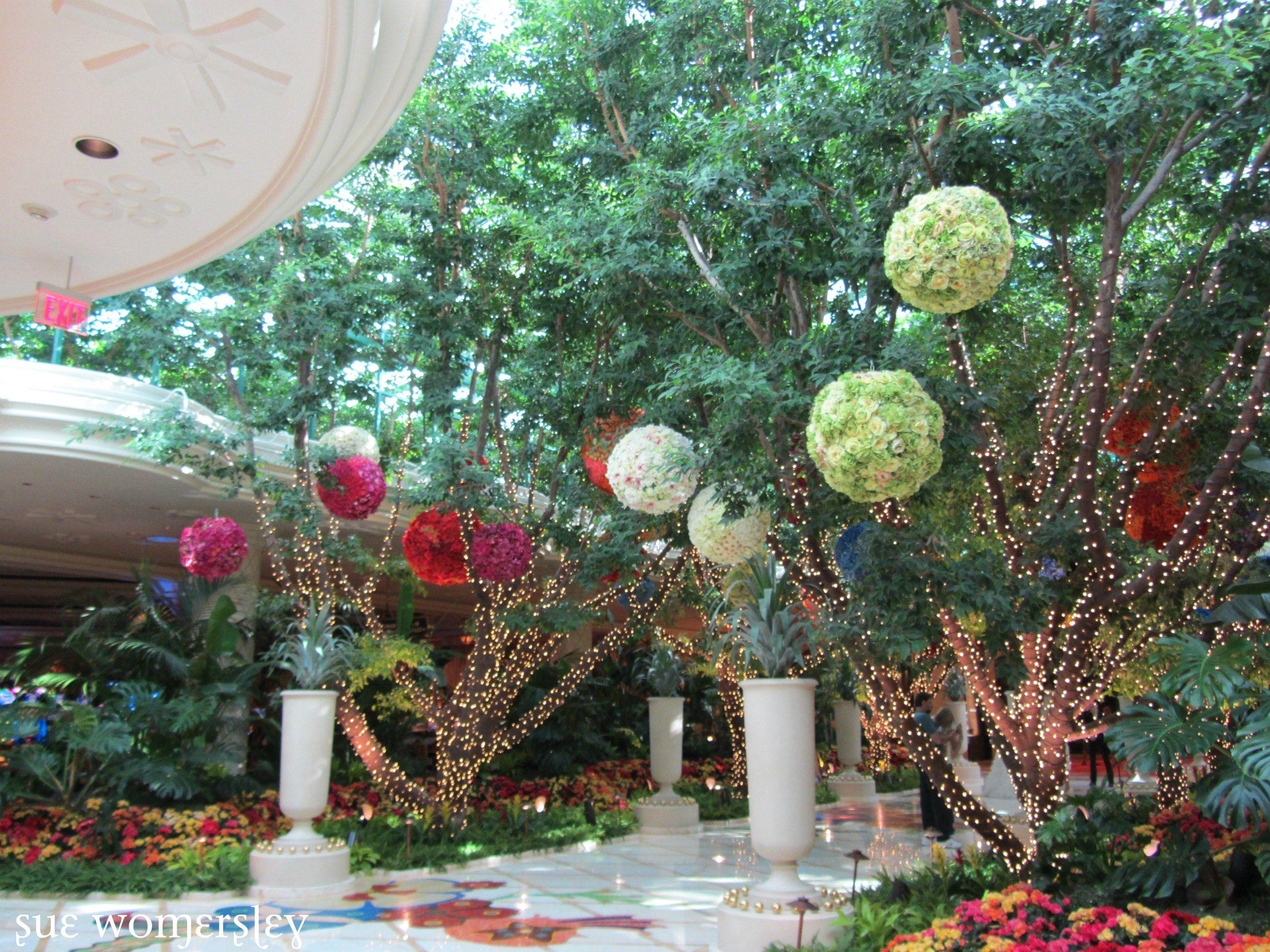 Hanging Flower Balls Wynn Las Vegas Flower Ball Decor Wedding Decorations