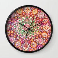 Persian Boho print Wall Clock