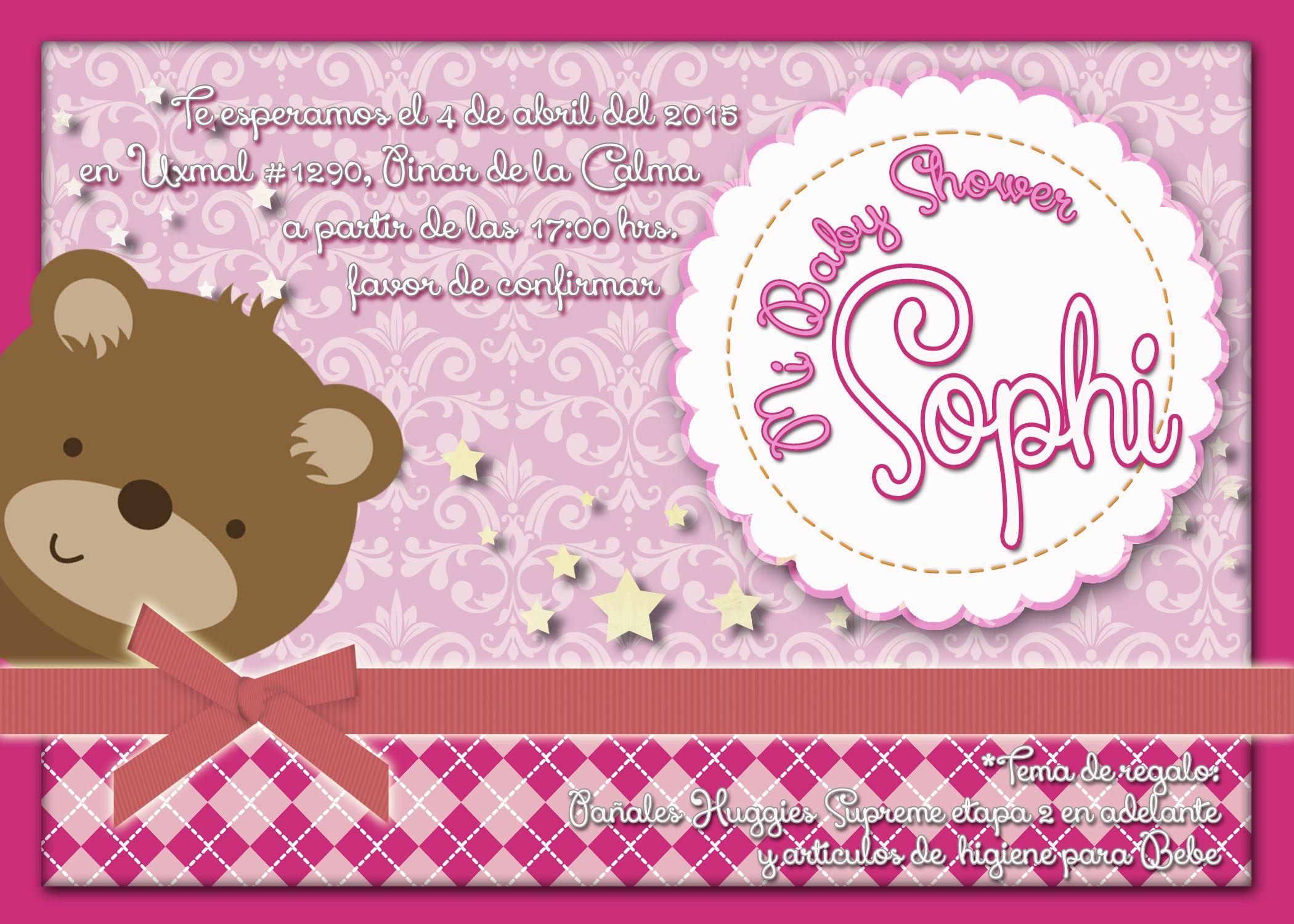 Baby Shower Teddy Bear Invitaciones personalizadas, las creamos a partir del tema que tú quieras, digitales e impresas Practisystem +52 (442) 4698300 (WhatsApp)