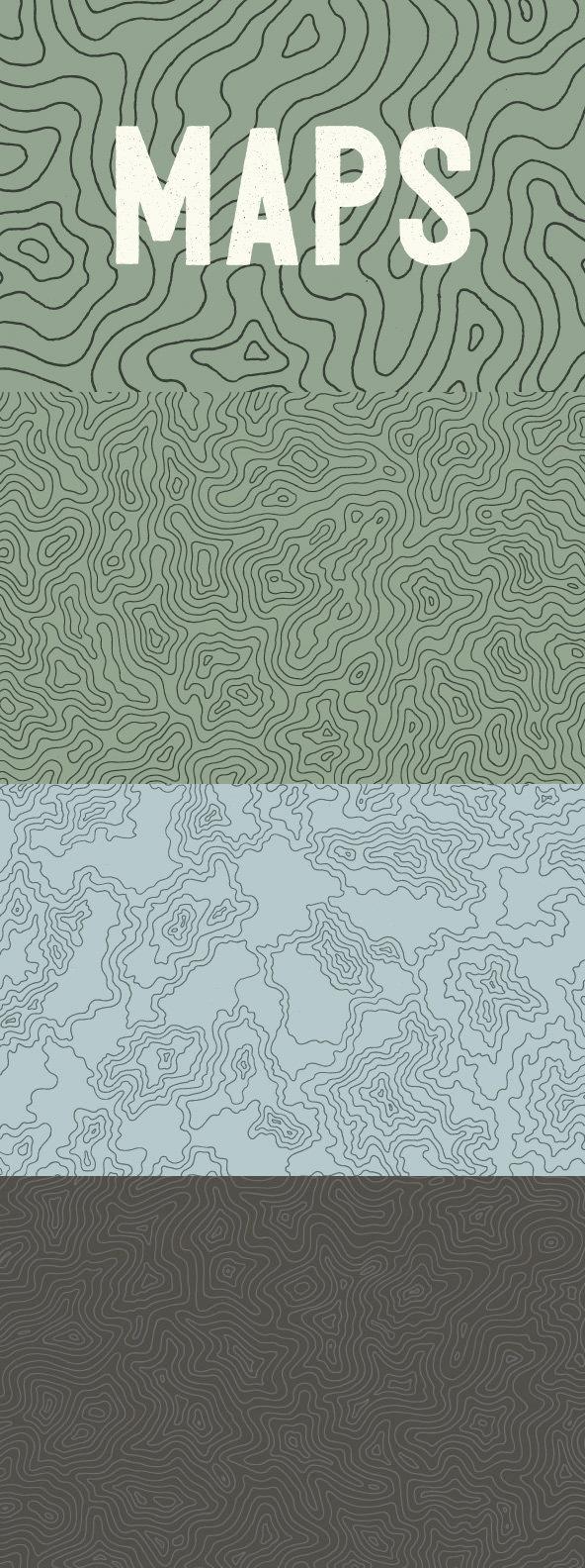 Topographic Elevation Maps   Stock Art   Pinterest   Topographic map ...