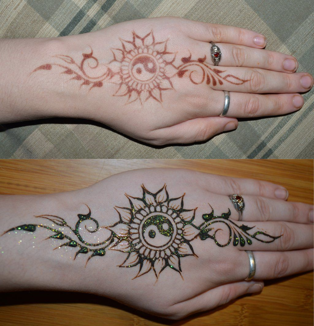 Henna Yin Yang Sunflowerby Henna Pinterest Henna Tattoos And