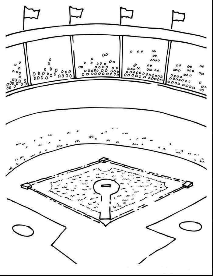 Baseball Field Coloring Pages Baseball