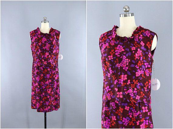 6dd1f45a6 Vintage 1960s Day Dress / 60s Skirt & Top Set / 2 Piece Dress / Pink ...