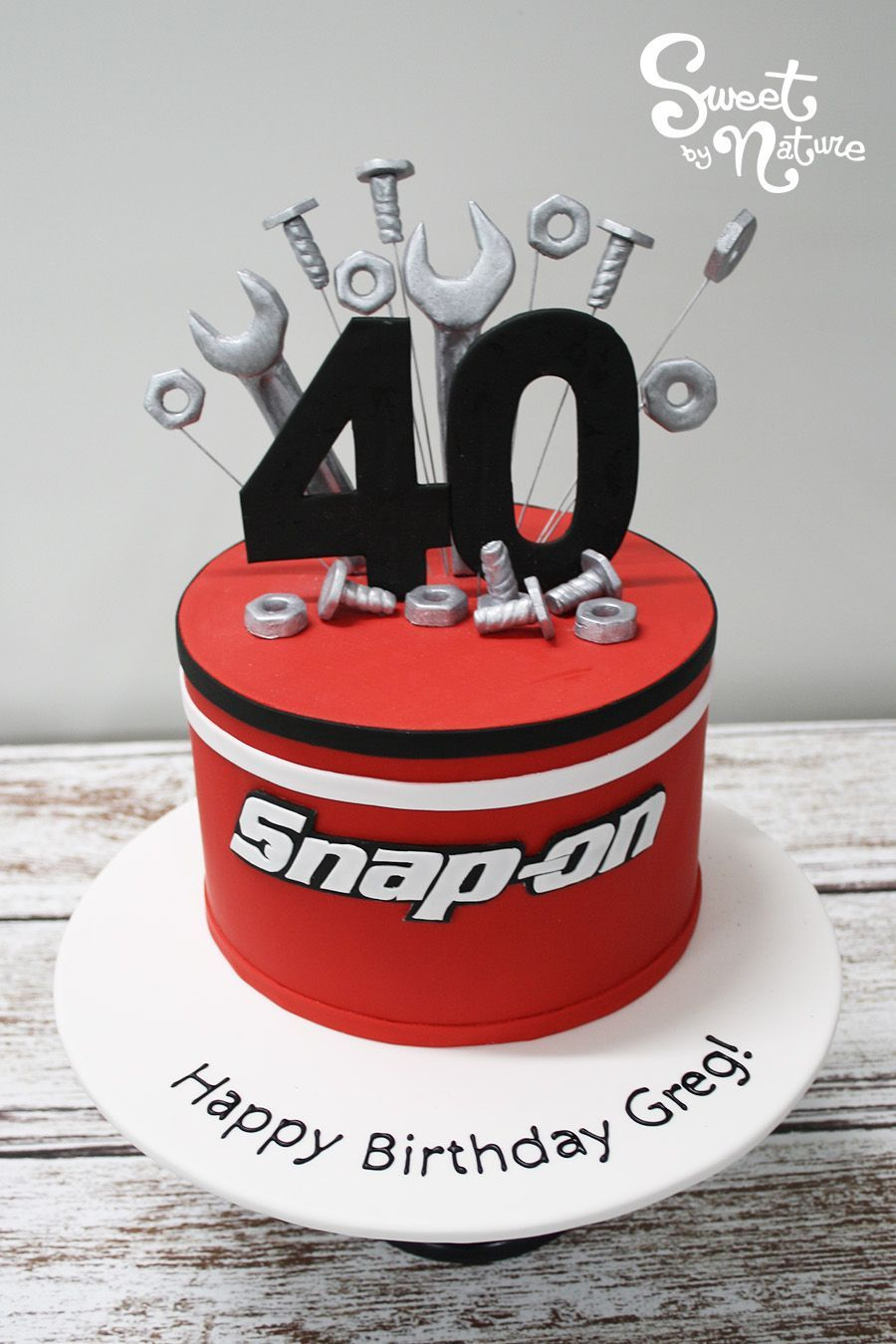 Happy 40th Birthday Greg We Hope You Enjoyed Your Tool Themed Cake To