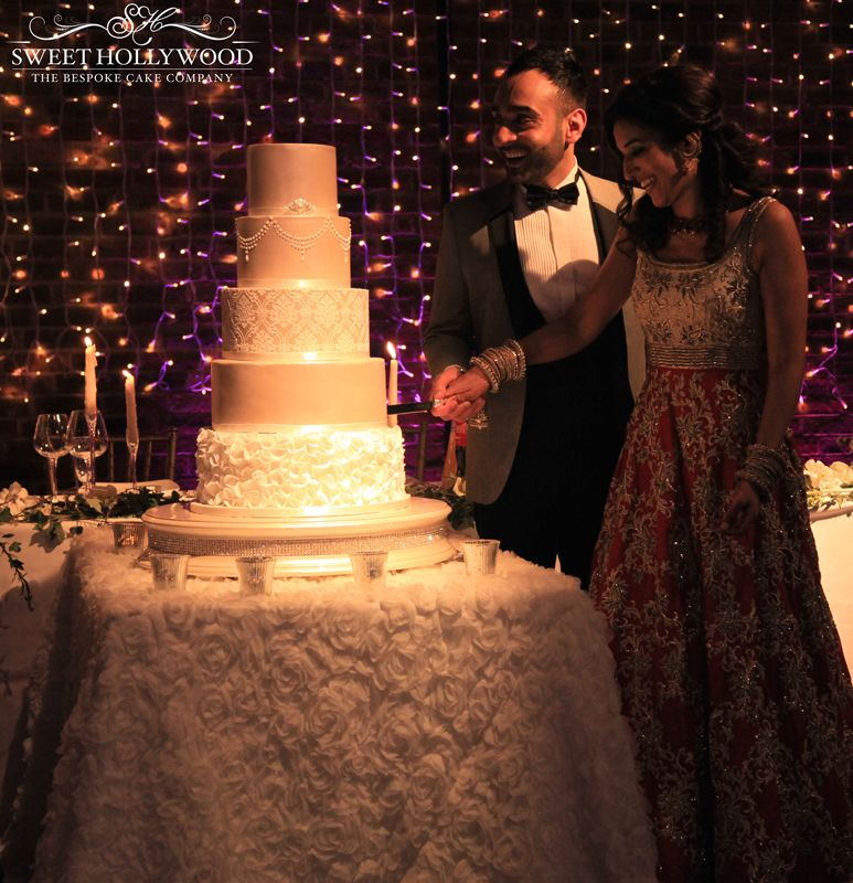 All Smiles As Our Bride And Groom Cut Into The Stunning Luxury Asian Wedding Cake By