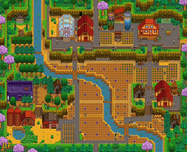 Farms Of Stardew Valley Unbrok Hill Top