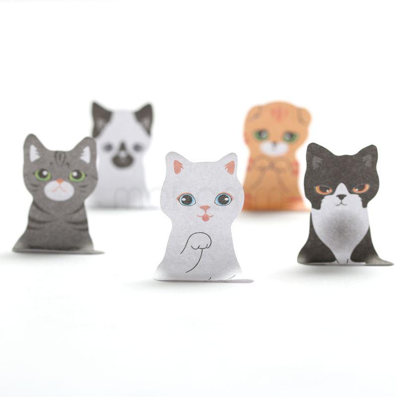 3D 만화 귀엽다 스크랩북 고양이 개 상자 스티커 귀여운 한국어 문구 메모 사무실 학교 용품 게시물 메모 패드