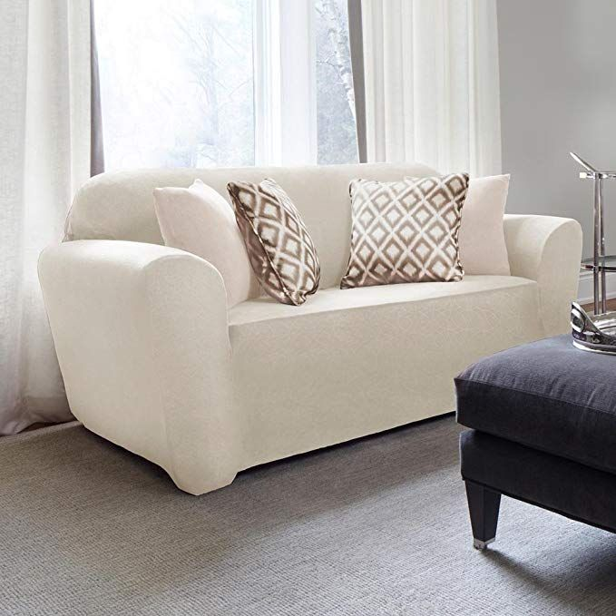 Remarkable Urbanlife Circle Stretch Shorty Loveseat Ivory Review Dailytribune Chair Design For Home Dailytribuneorg
