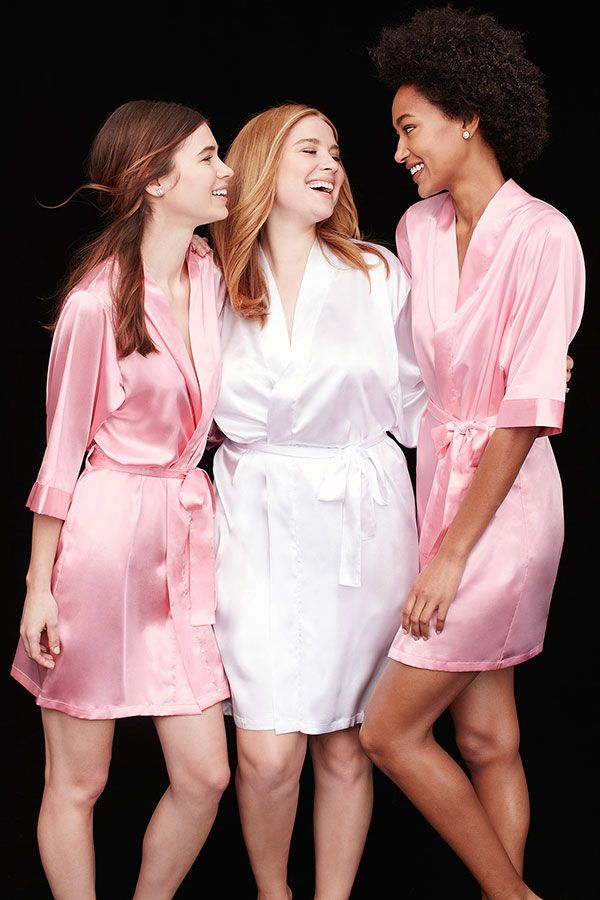 Give robes to your bridesmaids to wear while they\'re getting hair ...