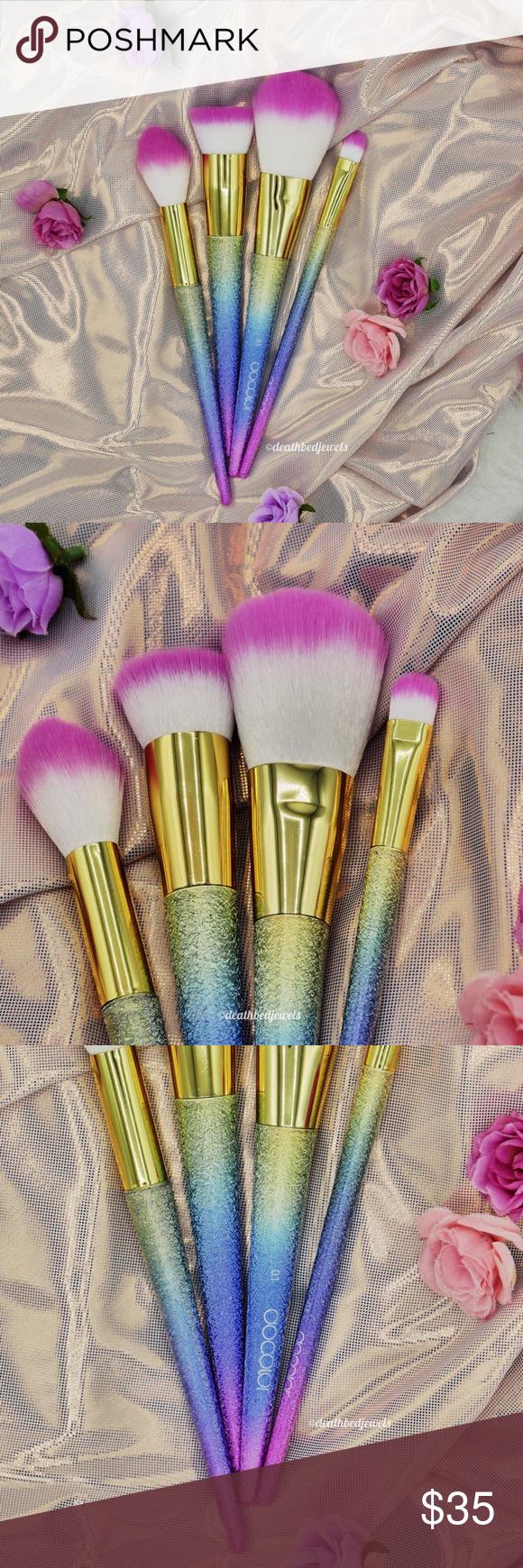 Last One🔥Rainbow Glitter Unicorn Face Brushes Boutique