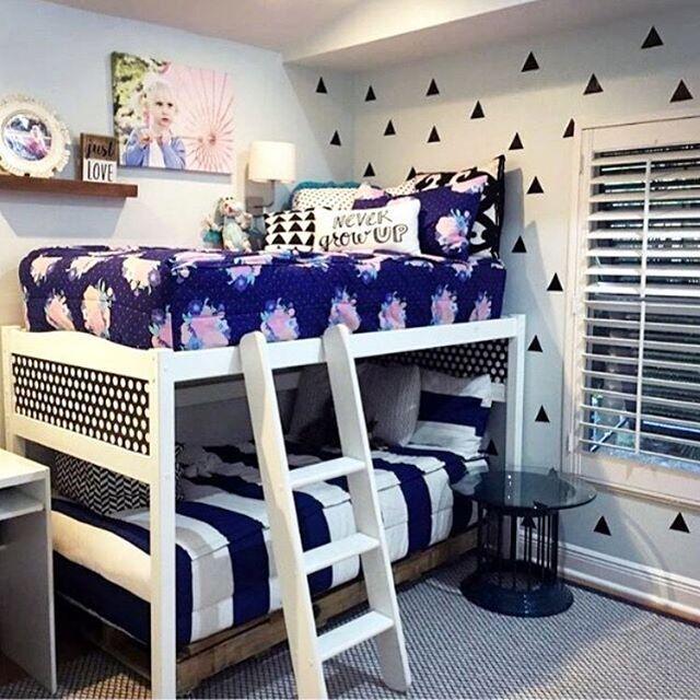 Boy Girl Shared Room Bunk Beds Need Beddy S Zipper Bedding Look