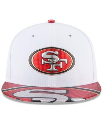 New Era Boys  San Francisco 49ers 2017 Draft 59FIFTY Cap - White Red 6 3 8 011ed1408