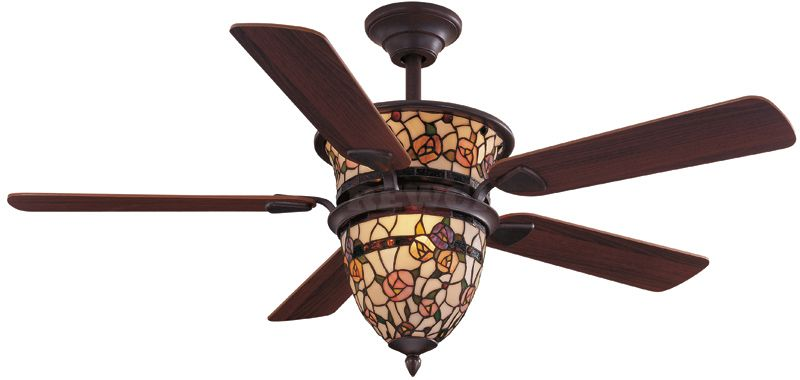 52 Ceiling Fan Victorian Tiffany Style With Light 249 00