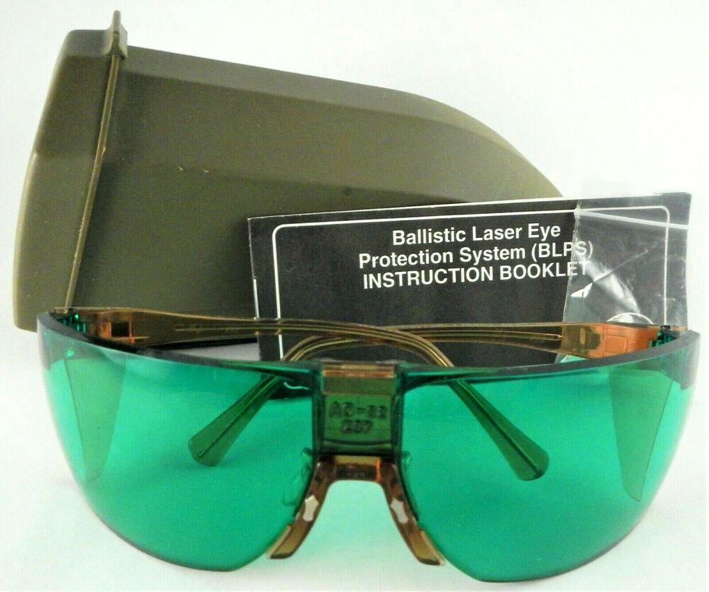 Ballistic laser eye protection blps s2 green lens safety