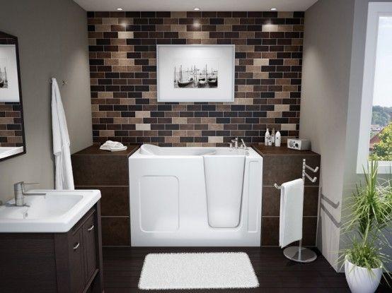 Compact Walk In Bathtub By Maax Professional Bathroom Pinterest