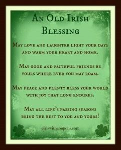 Irish Love Quotes Wedding Unique An Old Irish Blessing And Corned Beef And Cabbage Recipe  Great