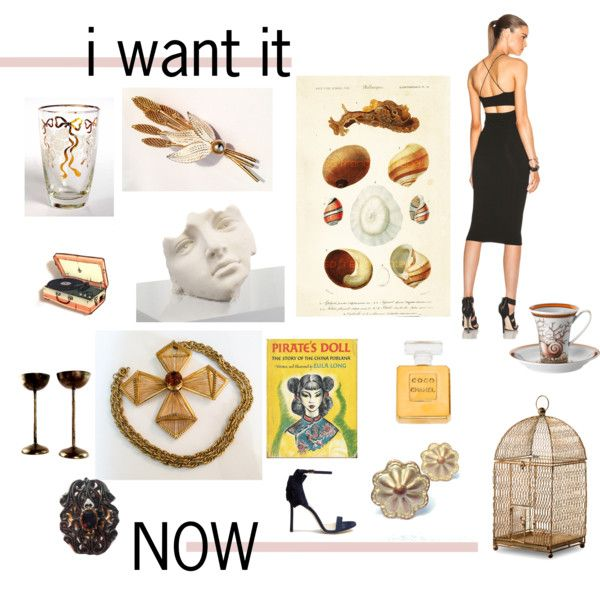 i want it NOW by seasidecollectibles on Polyvore featuring T By Alexander Wang, Jimmy Choo, Hobé, Chanel, John-Richard, National Tree Company, Versace, Libbey and vintage