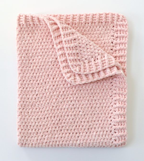 Easy Chunky Crochet Velvet Blanket
