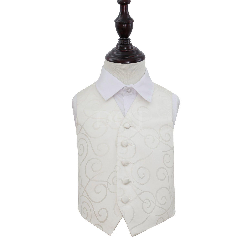 Boy's Scroll Ivory Wedding Waistcoat http://www.dqt.co.uk/boy-s-scroll-ivory-wedding-waistcoat.html
