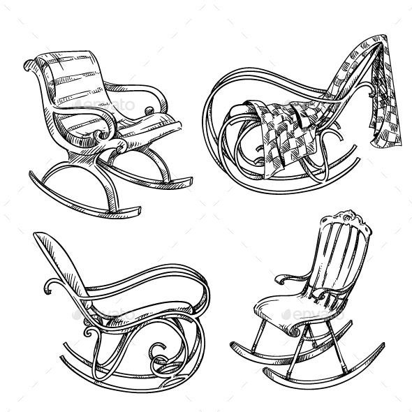 Rocking Chairs Chair Drawing Chairs Logo Rocking Chair